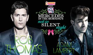 Mercedes in the Morning's Not So Silent Night featuring Rob Thomas with special guest Adam Lambert tickets at The Joint at Hard Rock Hotel & Casino Las Vegas in Las Vegas