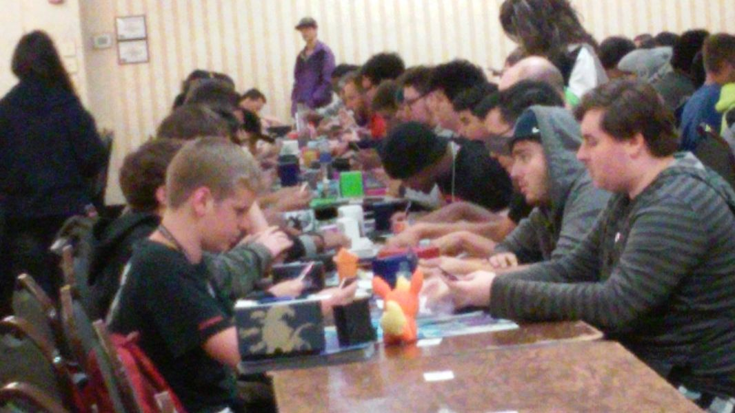 "First-round action at the Oct. 4, 2015 ""Yu-Gi-Oh!"" regional qualifier in Frederick, Md."