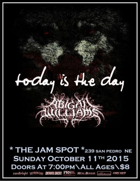 Albuquerque's The Jam Spot welcomes Today is the Day and more