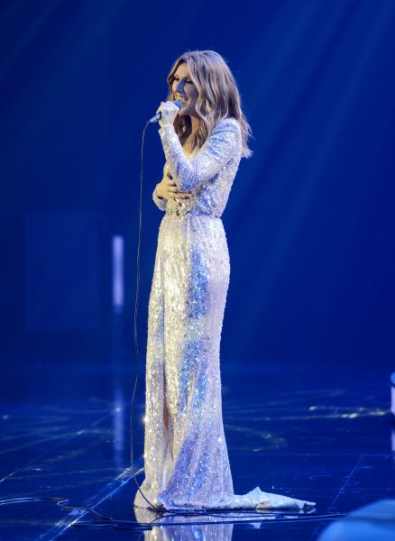 Celine Dion celebrates her joy of performing to adoring fans.