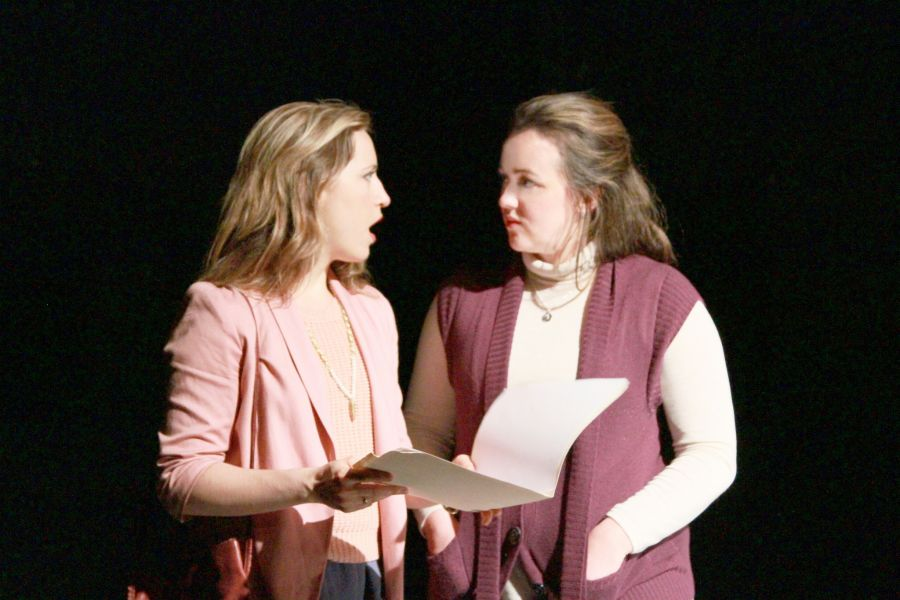 "Catie Humphreys stars in a thrilling play titled ""The Black Book."""