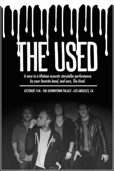 The Used Unplugged Performance promo flyer
