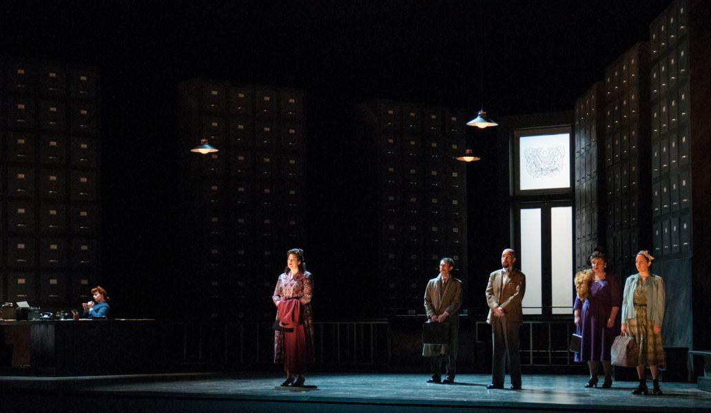 """A scene from the opera """"The Consul"""""""