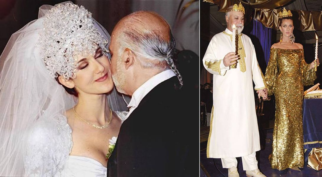 Celine Dion getting married and renewing her vows