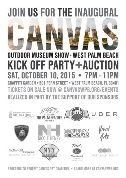 West Palm Beach welcomes CANVAS art party & auction