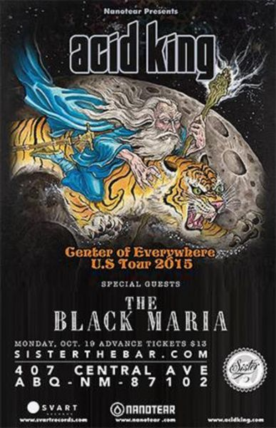 Acid King, Black Maria, and Sandia man perform at Albuquerque's Sister on Oct. 19.
