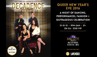 DECADENCE: Queer New Year's Eve 2016 tickets at Mill City Nights in Minneapolis