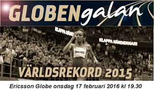 Globen-galan friidrott tickets at Ericsson Globe, Stockholm