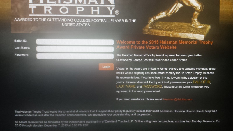 Voting for the Heisman trophy has begun