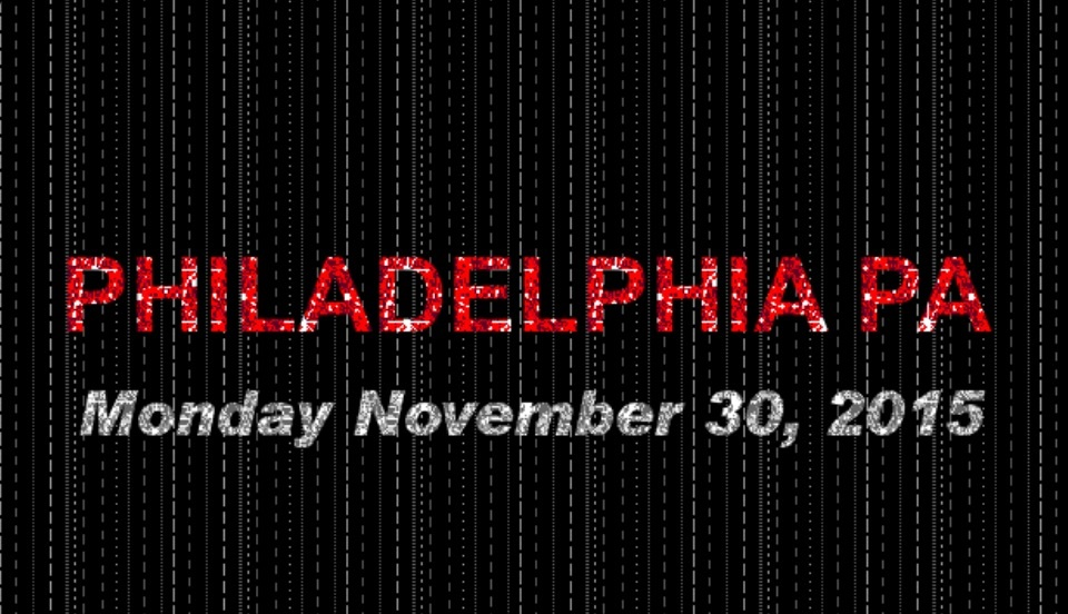 Philadelphia has events on Nov. 30 at the Franklin Institute, Underground Arts, Union Transfer, and The Foundry.