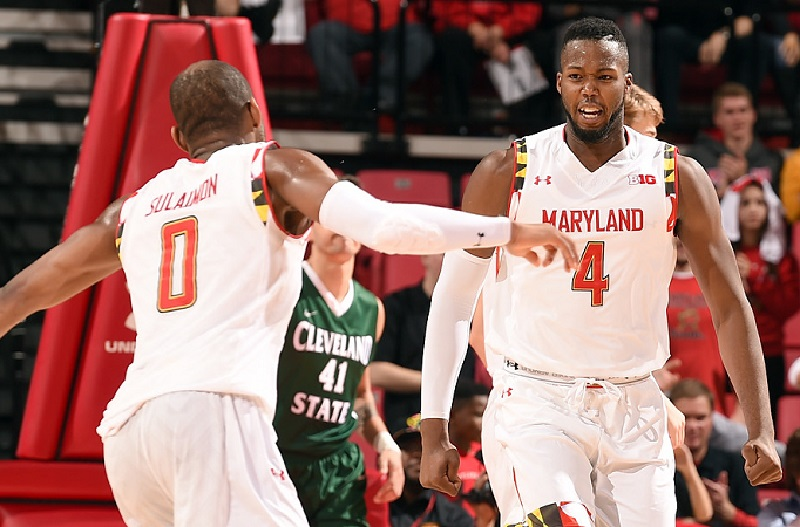 """we're number 76!"" Actually, the Maryland Terps, including Rasheed Sulaimon (left) and Robert Carter are ranked #2"