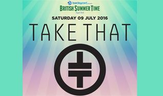 Take That tickets at Hyde Park in London