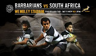 Barbarians v South Africa tickets at Wembley Stadium in London