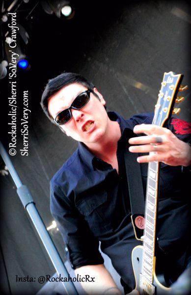 Breaking Benjamin frontman and guitarist Ben Burnley rocks a sold-out crowd on Day 2 of Carolina Rebellion at Charlotte Motor Speedway.