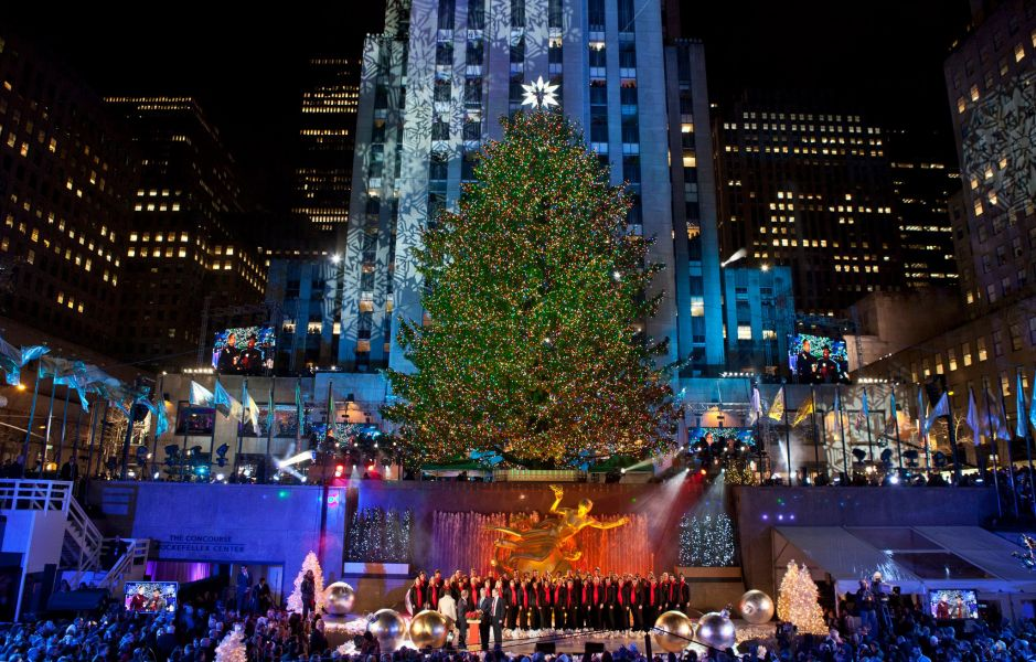 Rockefeller Center tree lighting ceremony 2012
