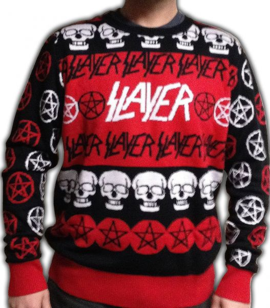 Kerry King of Slayer on The Ugly Slayer Christmas Sweater
