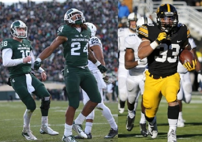 Battle for the Big 10 and more. Play-off spot on the line for Michigan State and Iowa