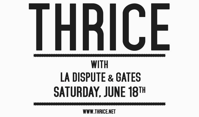 Thrice tickets at Starland Ballroom in Sayreville