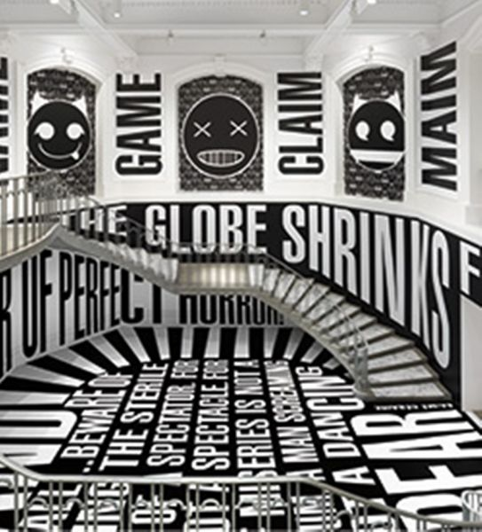 Barbara Kruger installation