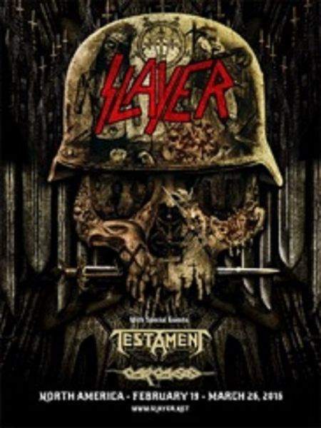 Slayer kicks of the first leg of its North American tour on Feb. 19 in Chicago