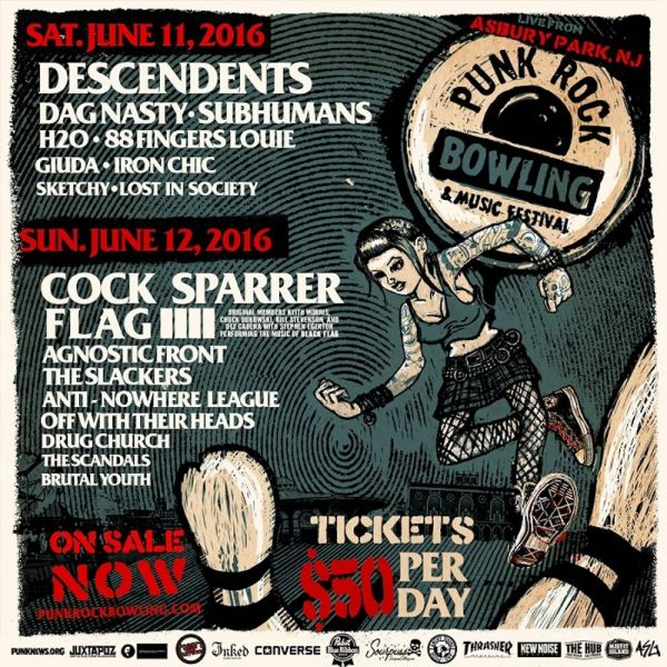 Bands like Cock Sparrer, Flag, Agnostic Front, The Slackers and others will be hitting the Stone Pony Summer Stage this June. Tickets are on
