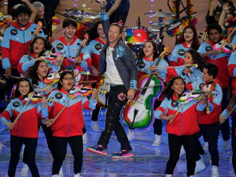Coldplay and YOLA at Super Bowl 50