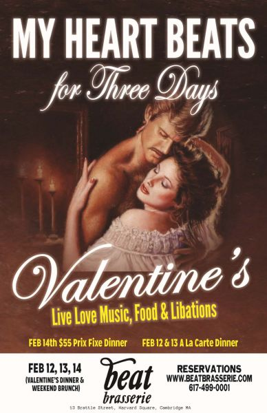 The Beat Brasserie celebrates Valentine's Day with 'Three Days of Loving'