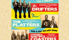 The Drifters, The Platters + The Coasters tickets at Pine Belt Arena in Toms River