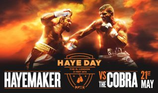 Haye Day tickets at The O2 in London