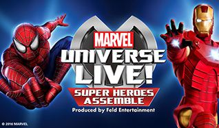 Marvel Universe LIVE! Super Heroes Assemble tickets at The O2, London