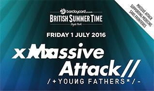 Massive Attack + Young Fathers tickets at Hyde Park in London