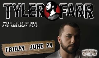 Tyler Farr tickets at Starland Ballroom in Sayreville