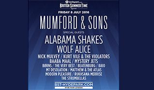 Mumford & Sons tickets at Hyde Park in London