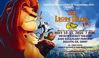 North Metro Academy of Performing Arts presents Lion King Jr. tickets at Infinite Energy Theater in Duluth