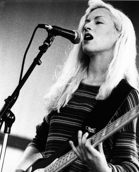 D'arcy Wretzky performing with Smashing Pumpkins