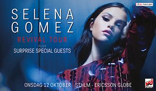 Selena Gomez tickets at Ericsson Globe in Stockholm