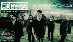 3 Doors Down tickets at Count Basie Theatre in Red Bank