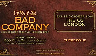 Bad Company tickets at The O2 in London