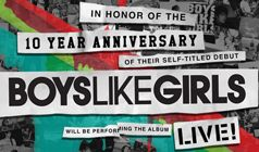 Boys Like Girls - 10 Year Anniversary tickets at Starland Ballroom in Sayreville