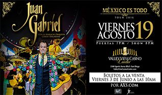 Juan Gabriel tickets at Valley View Casino Center in San Diego