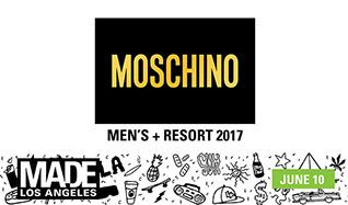 MOSCHINO, Men's Spring Summer 2017 and Women's Resort Collection + After Party tickets at L.A. LIVE Event Deck in Los Angeles