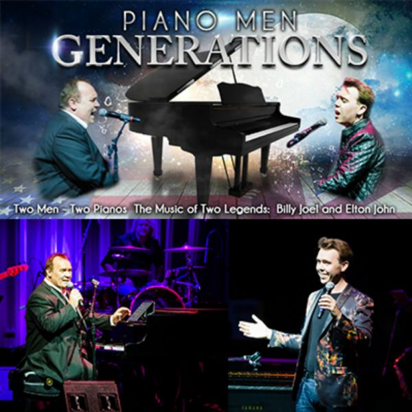 """Piano Men: Generations,"" a tribute to Elton John and Billy Joel, comes to Arizona Broadway Theatre in Peoria, Arizona, June 13. It is the f"