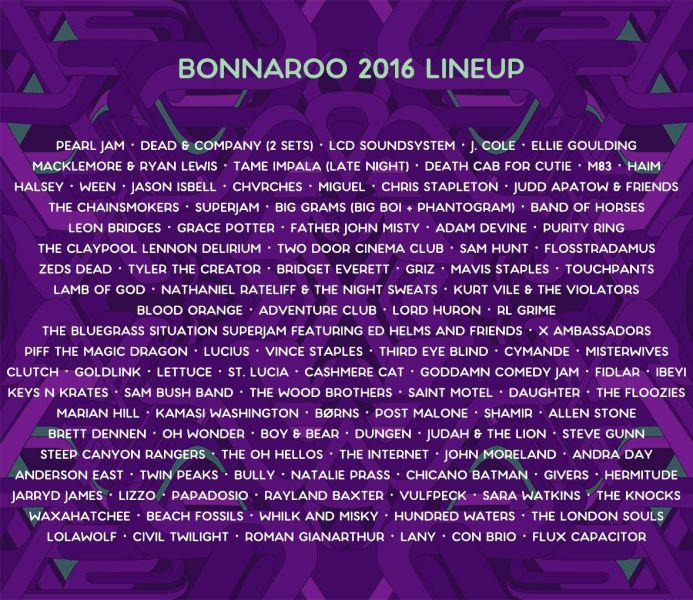 Bonnaroo single day tickets 2016