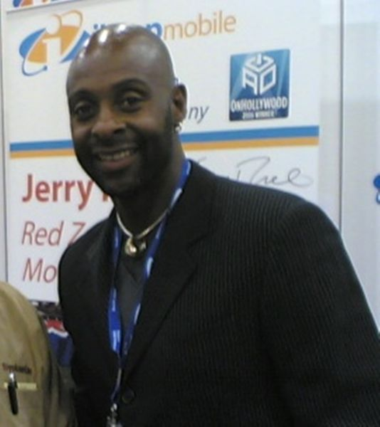 NFL legend Jerry Rice at CTIA Wireless in Las Vegas.