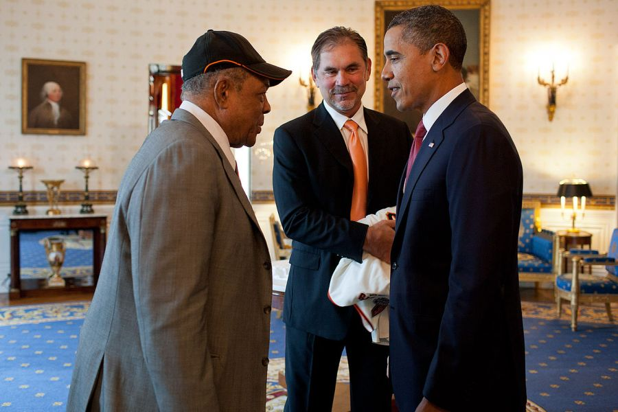The greatest S.F. Giants hitter ever got to meet President Obama in 2011.