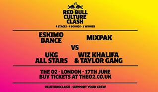 Red Bull Culture Clash tickets at The O2 in London