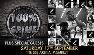 100% Grime tickets at The SSE Arena, Wembley, London