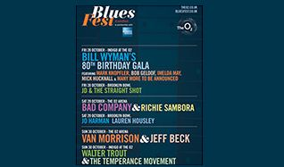 Bill Wyman 80th Birthday Gala tickets at indigo at The O2 in London