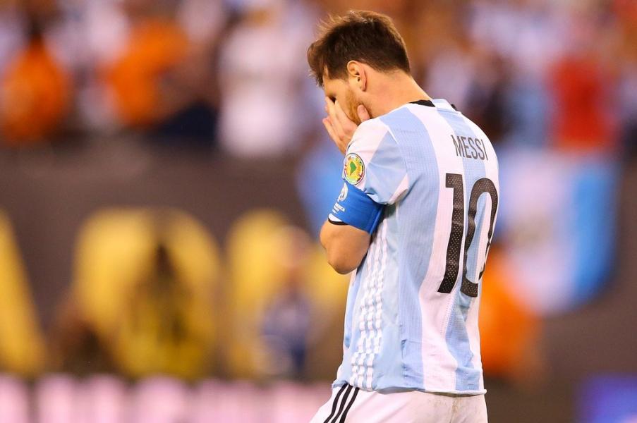 Messi se despide de la seccion Argentina