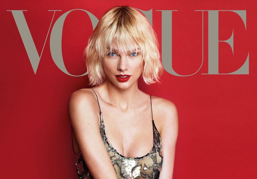 Taylor Swift was featured on the cover of the May 2016 issue of Vogue